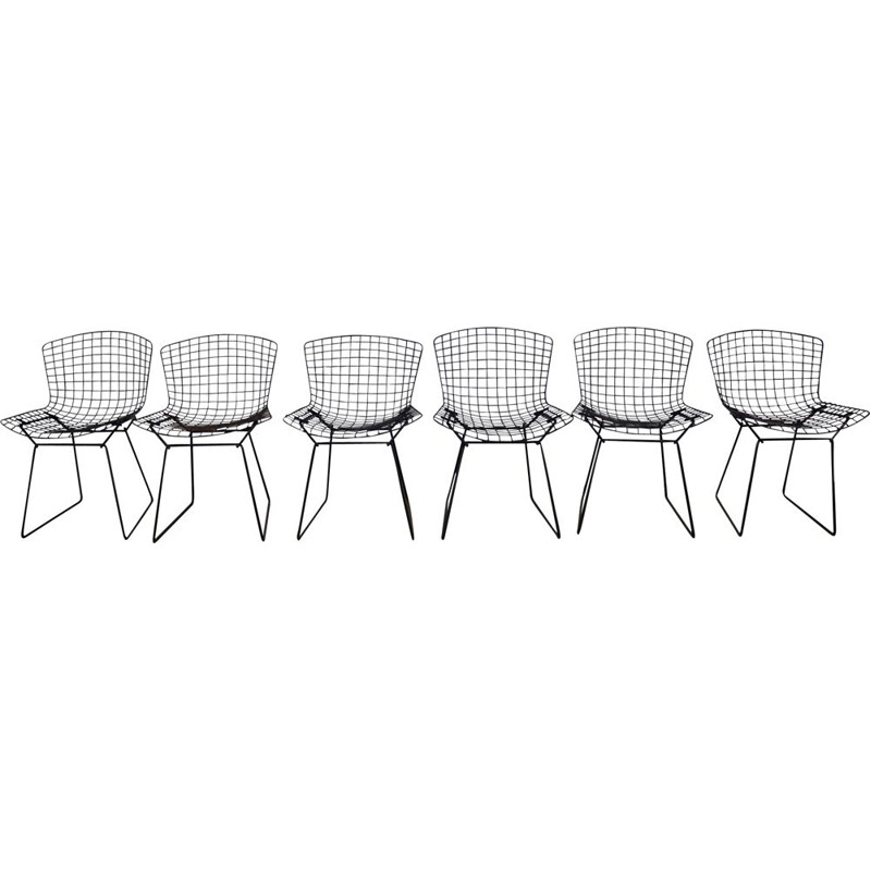 Set of 6 vintage chairs by Harry Bertoia for Knoll 1960