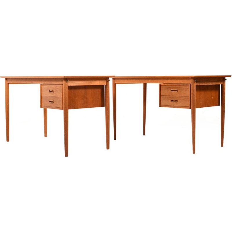 Pair of vintage desks for H.Sigh & Son Spøttrup in teakwood 1960