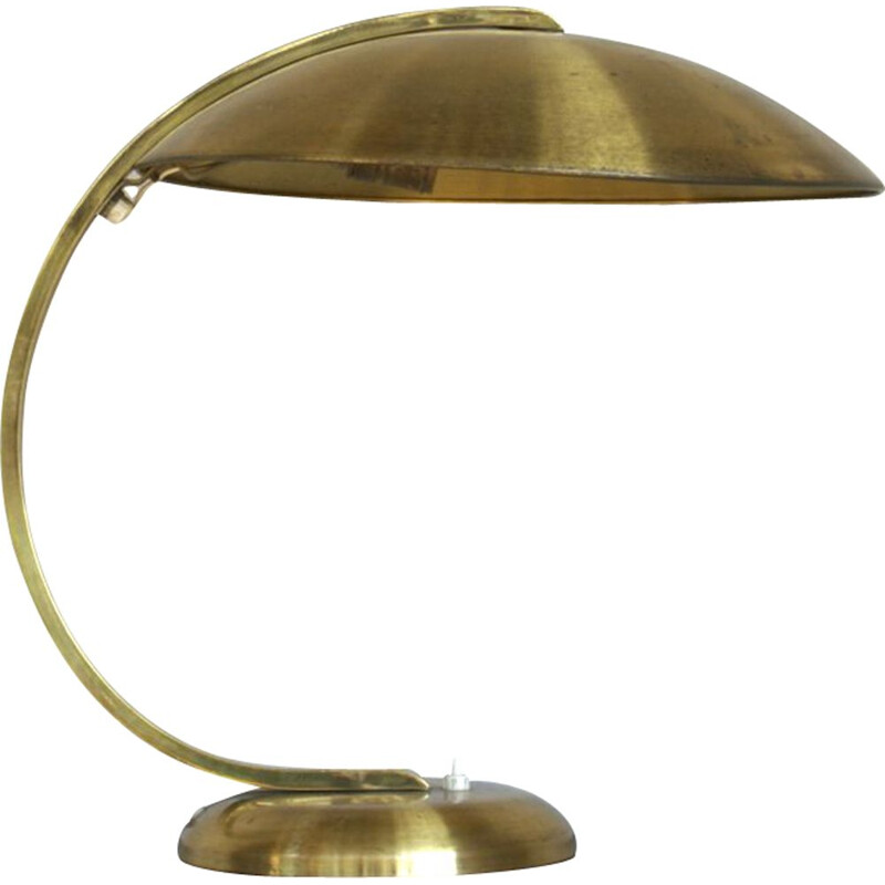 Vintage german lamp for Hillebrand in brass 1950