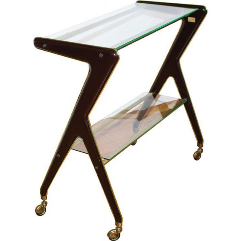 Vintage serving cart edited by RAMA Torino Italy 1950s