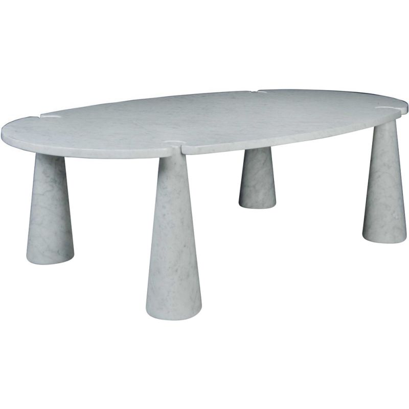 "Dining table AGAPECASA ""Eros"" 240cm oval with 4 feet, Angelo Mangiarotti"