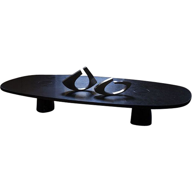 "Coffee table AGAPECASA ""Eros"" 180cm oval, Angelo Mangiarotti"