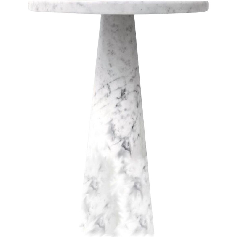 "Side table AGAPECASA ""Eros"" 60x72cm round, Angelo Mangiarotti"