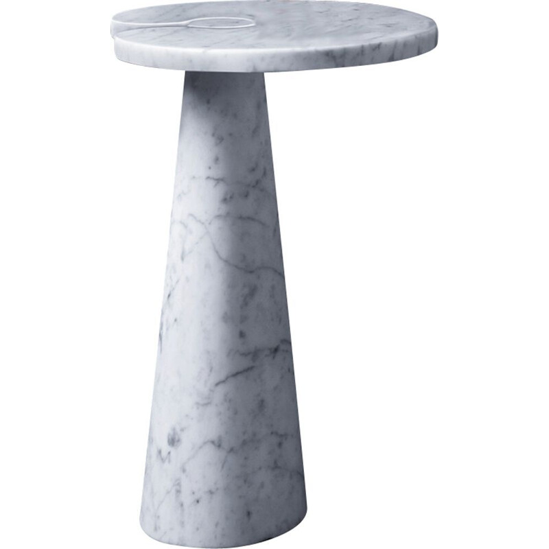 "Side table AGAPECASA ""Eros"" 66x45cm oval, Angelo Mangiarotti"