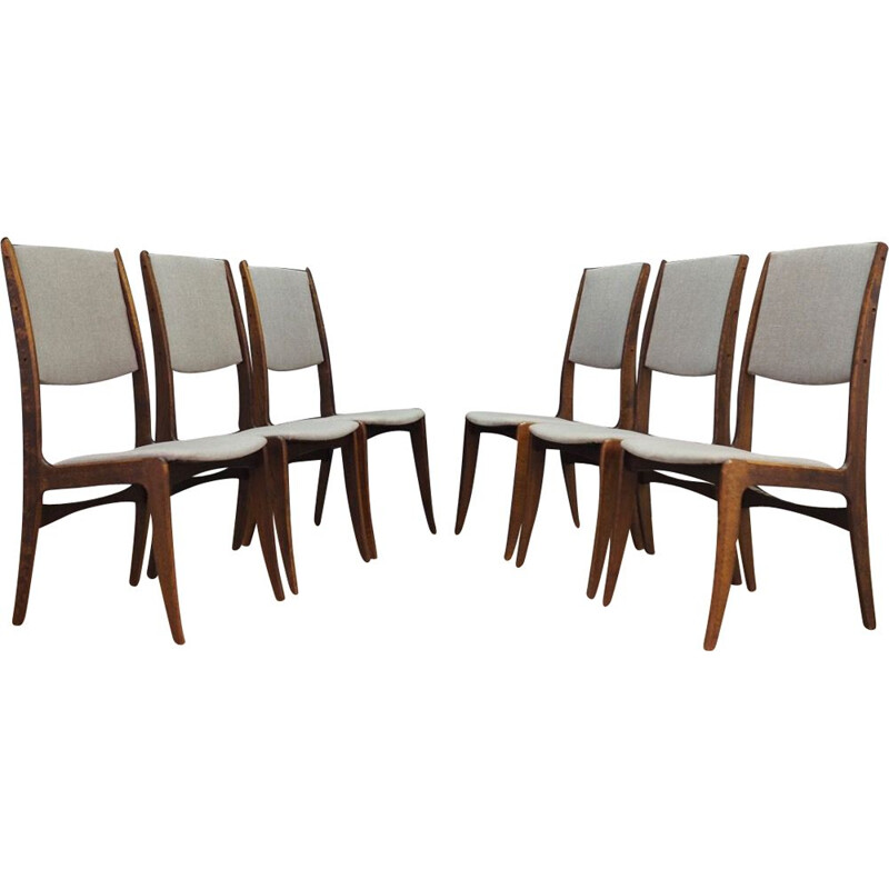 Set of 6 vintage dining chairs by As Skovby Mobelfabrik,1970