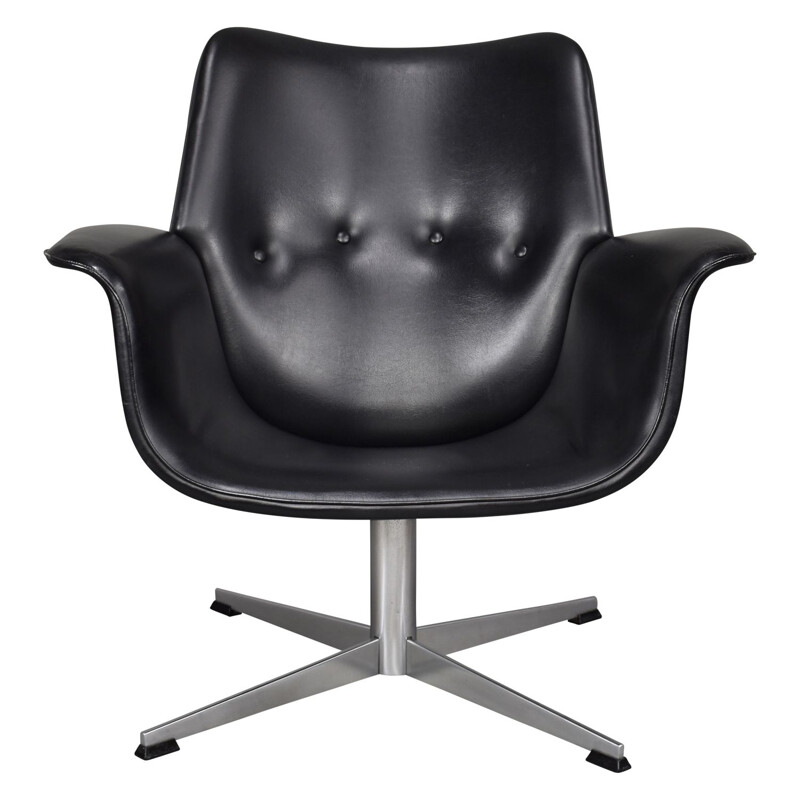 Black swiveling armchair by Topform