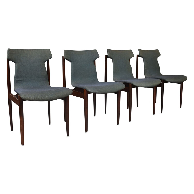 Set of 4 rosewood chairs by Inger Klingenberg for Fristho