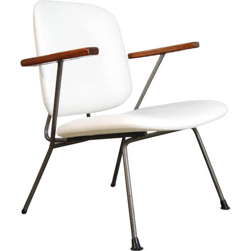 Vintage Industrial easy chair by Willem Hendrik Gispen for Kembo