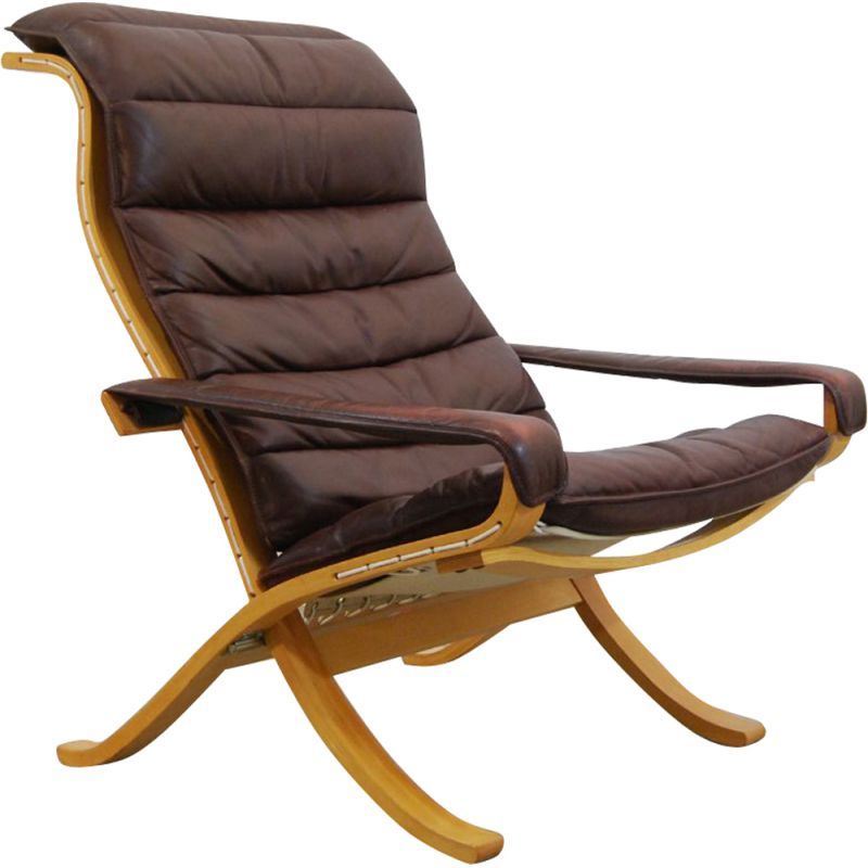 Vintage Scandinavian Flex Lounge Chair by Ingmar Relling for Westnofa 1970s