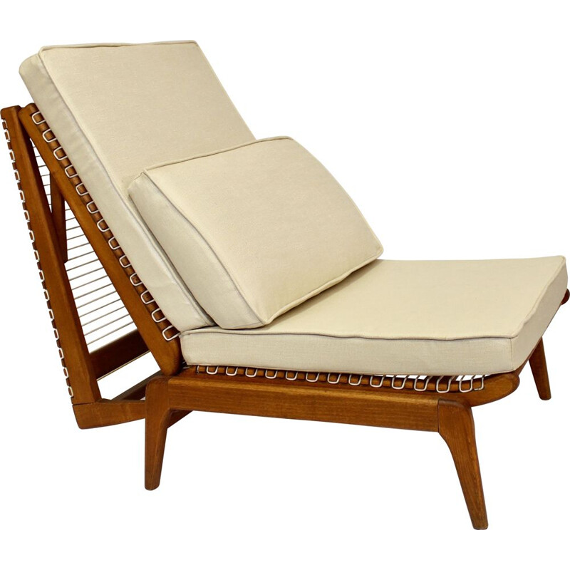 Vintage low chair - day bed by Georges Tigien 1960