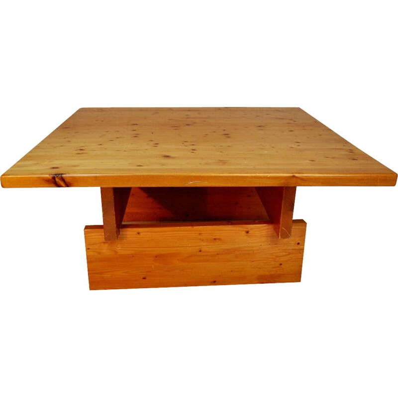 Modernist coffee table in pinewood by Roland Wilhelmsson