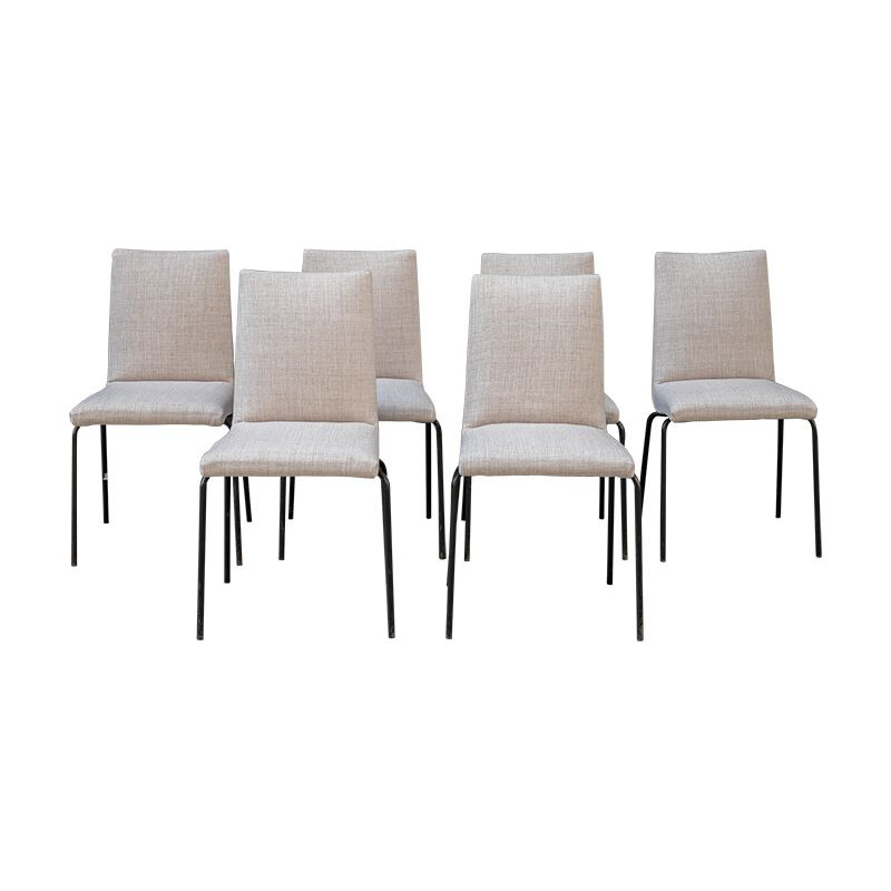 Set of 6 vintage chairs Robert-Pierre Guariche for Meurop