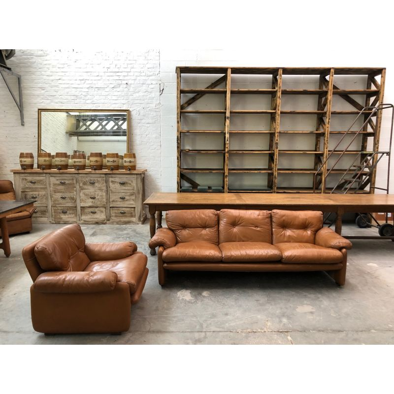 Vintage living room set sofa and armchair Coronado by Afra and Tobia ...