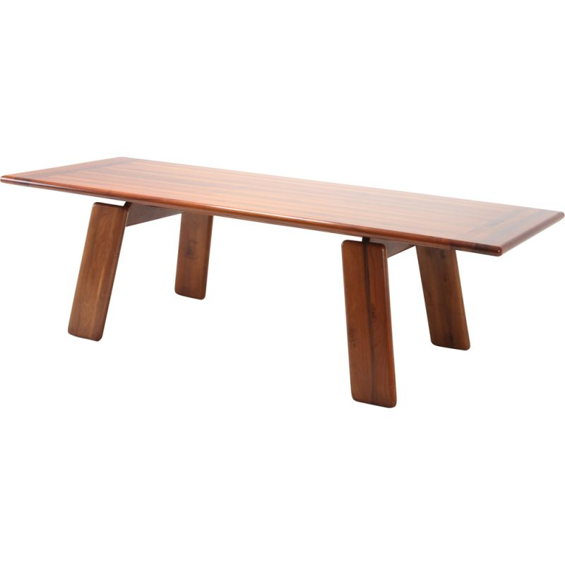 Vintage table by Afra & Tobia Scarpa in walnut 1980