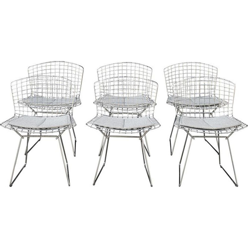 Set of 6 vintage Chair Bertoia by Harry Bertoia for Knoll