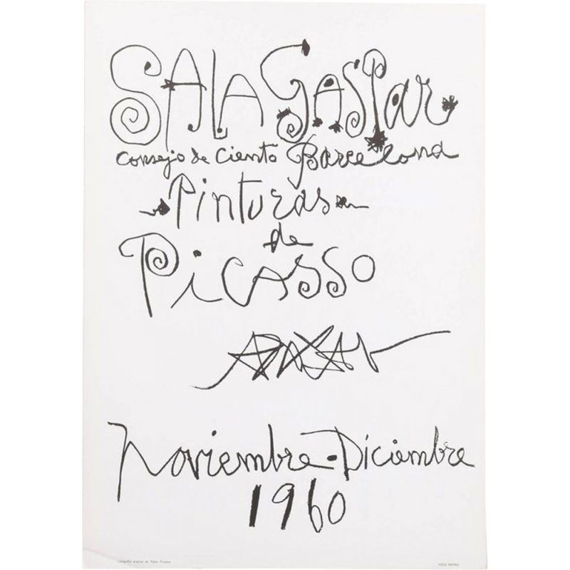 Vintage lithography by Pablo Picasso