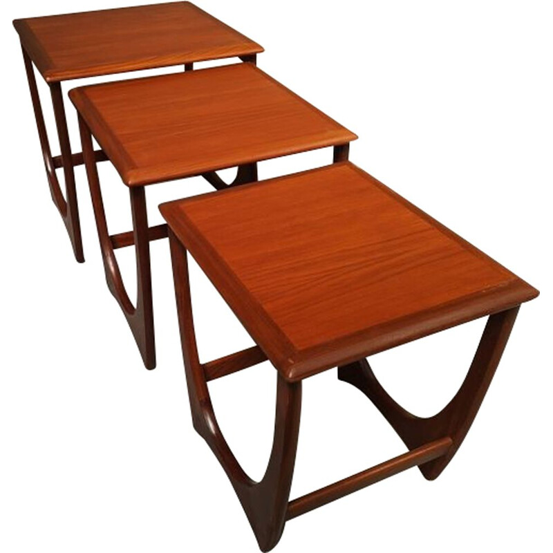 Set of teak nesting tables by G-Plan