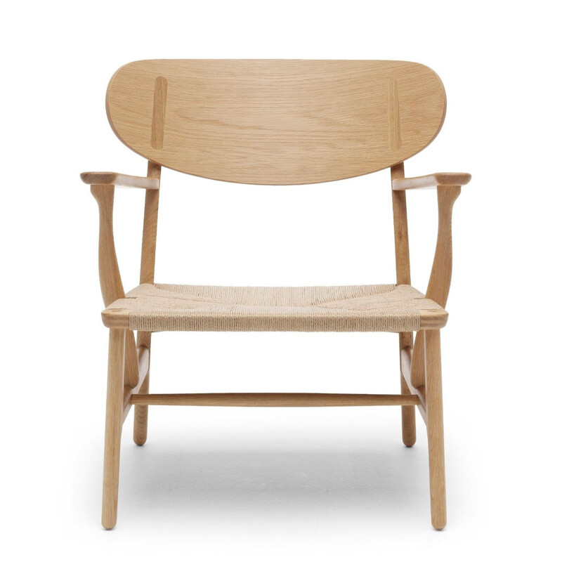 """CH22"" armchair natural rope by Hans J. Wegner for CARL HANSEN & SON"