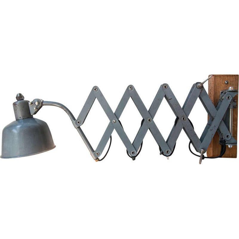 Vintage Wall lamp grey articulated 1930s