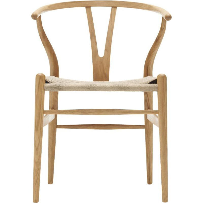 """Wishbone chair"" or ""CH24"" in natural cord by Hans J. Wegner for CARL HANSEN & SON"