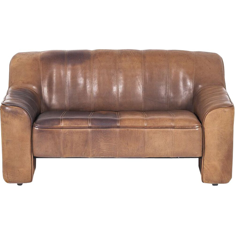Vintage DS-44 sofa by de Sede in brown leather 1970s