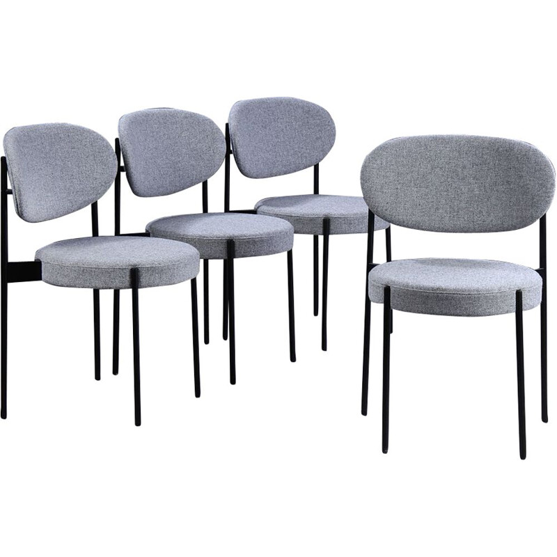 Set of 4 vintage chairs 403 by Verner Panton