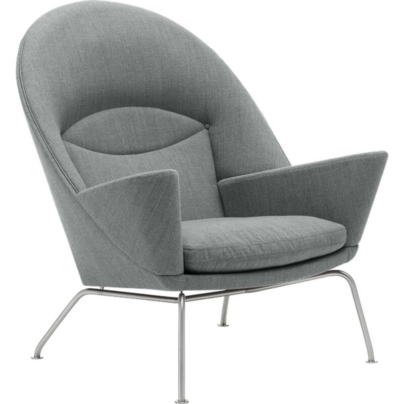 """Oculus"" or ""CH468""armchair in fabric by Hans J. Wegner for CARL HANSEN & SON"