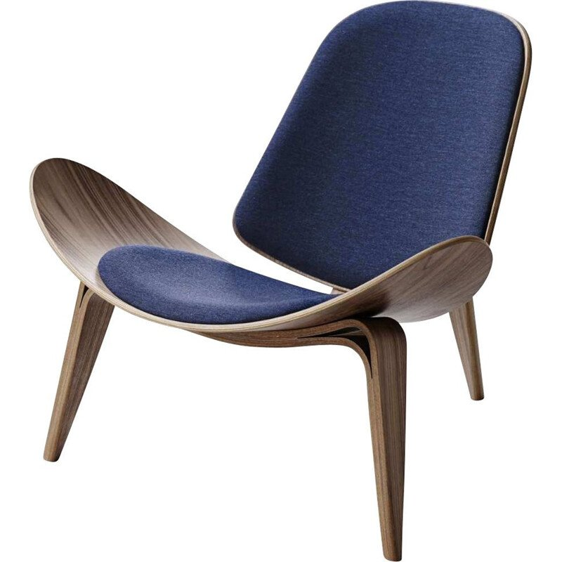 """Shell chair"" or ""CH07"" armchair in fabric design by Hans J. Wegner for CARL HANSEN & SON"