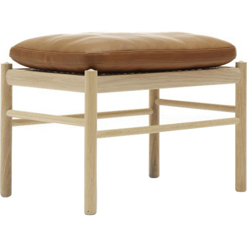 """""""Colonia footstool"""" or """"OW149/F"""" footstool in fabric by Ole Wanscher for CARL HANSEN & SON"""