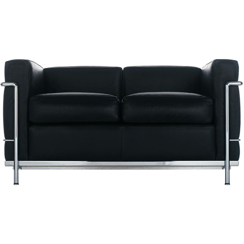 """LC2"" 2-seater sofa, Le Corbusier for CASSINA"