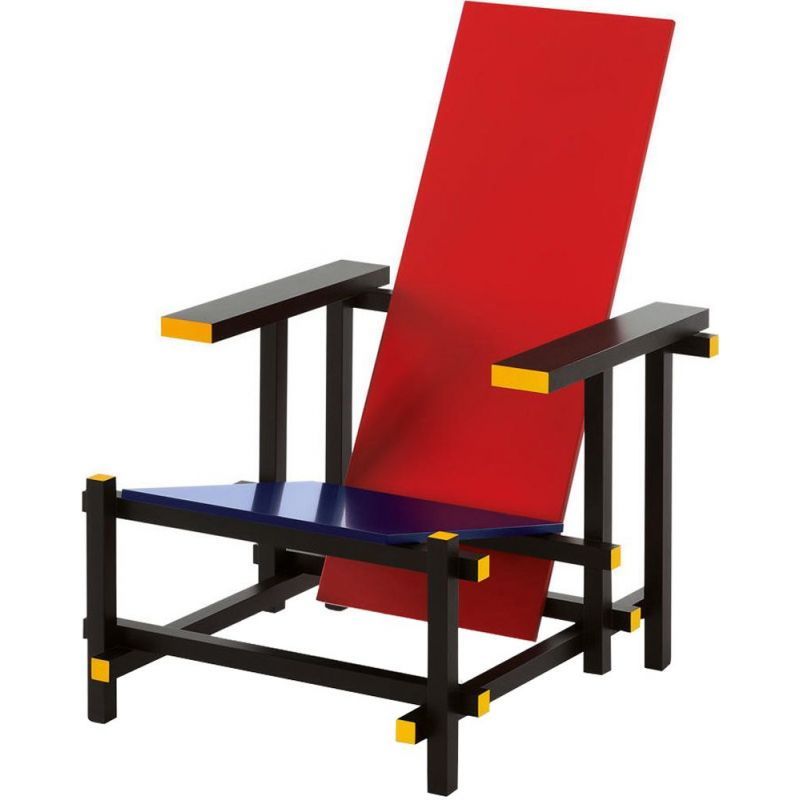 """RED AND BLUE"" armchair, Rietveld for CASSINA"