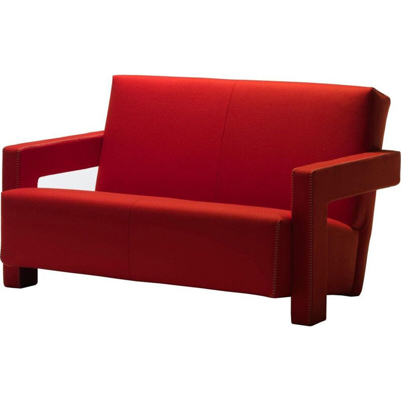 """UTRECHT"" 2-seater sofa, Rietveld for CASSINA"