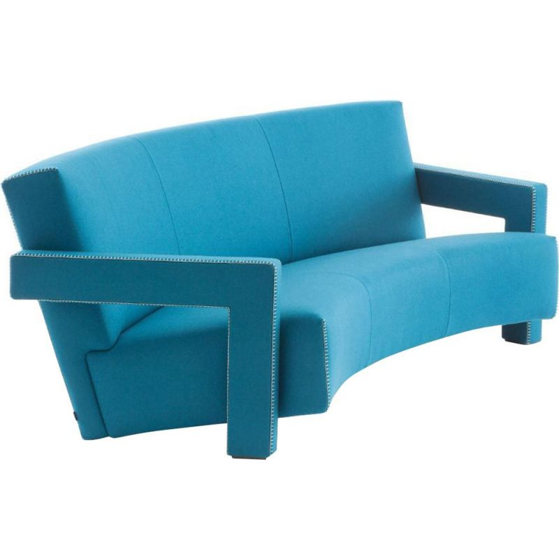 """UTRECHT"" 3-seater sofa, curved version, Rietveld for CASSINA"