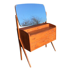 Scandinavian dressing table in teak - 1960s