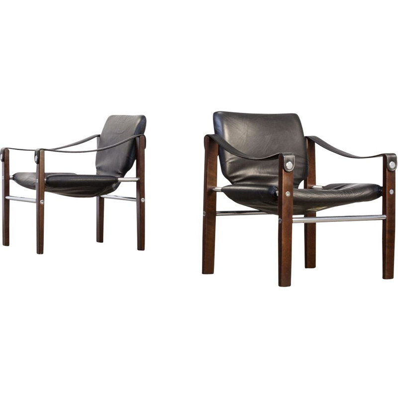 Set of 2 Chelsea armchairs by Maurice Burke for Pozza