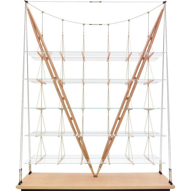 """VELIERO"" bookcase, Franco Albini for CASSINA"