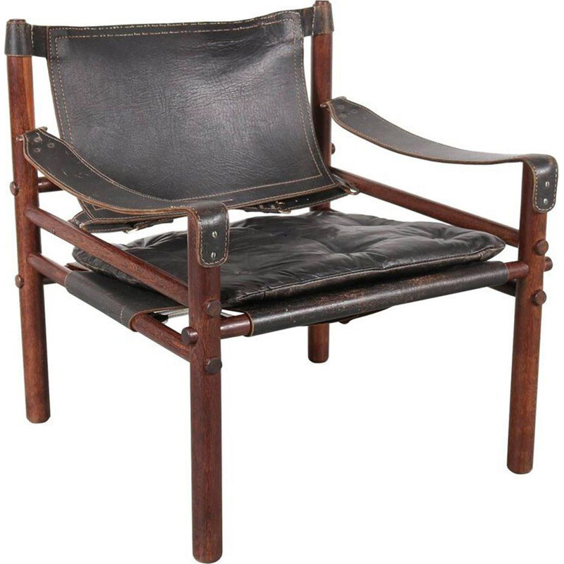 Sirocco chair in leather by Arne Norell