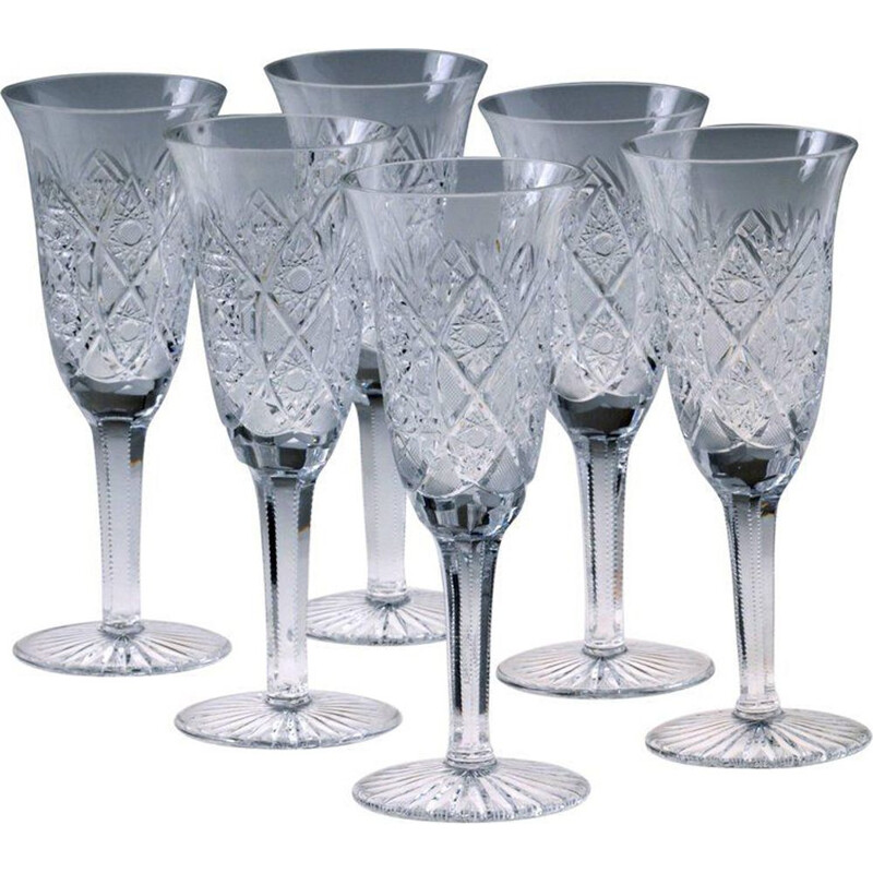 Drinking set of 24 pieces in crystal by Moser