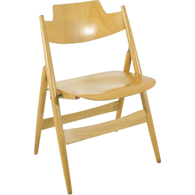 SE18 chair in beechwood by Egon Eiermann