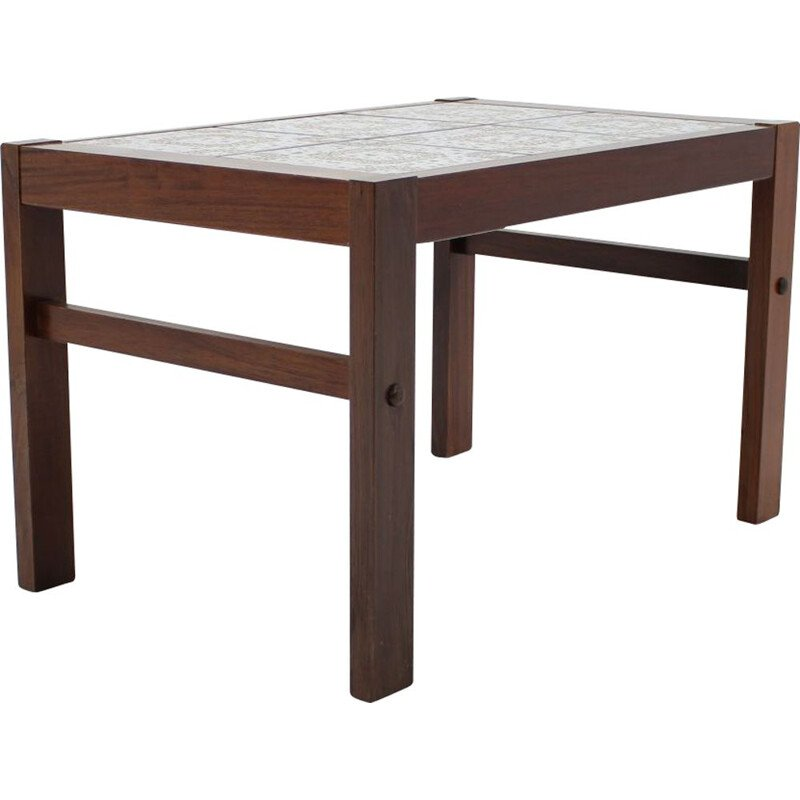 Side table in rosewood with ceramic top