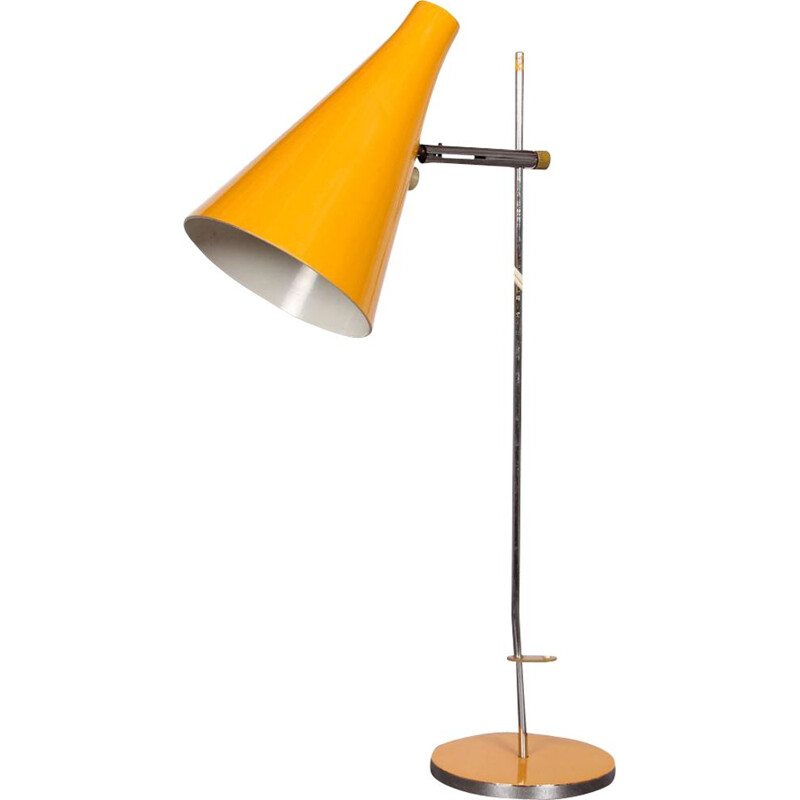 Vintage yellow lamp by Josef Hurka
