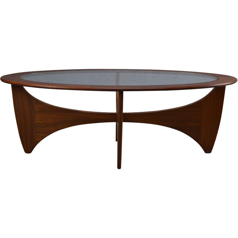 Vintage Oval coffee table in Teak By Victor Wilkins 1960s