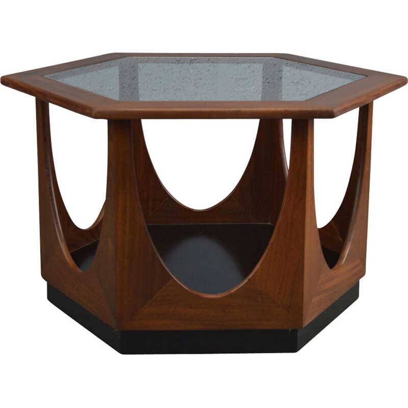 Vintage Hexagonal Coffee Table By Victor Wilkins 1960s