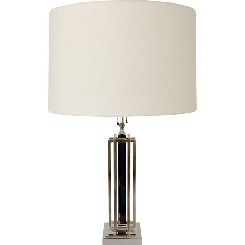 Vintage lamp for Lumica in chrome and brass 1970