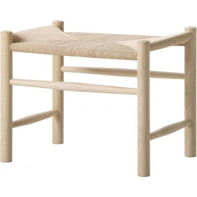 """J16"" stool, beech soap, Hans Wegner for FREDERICIA"