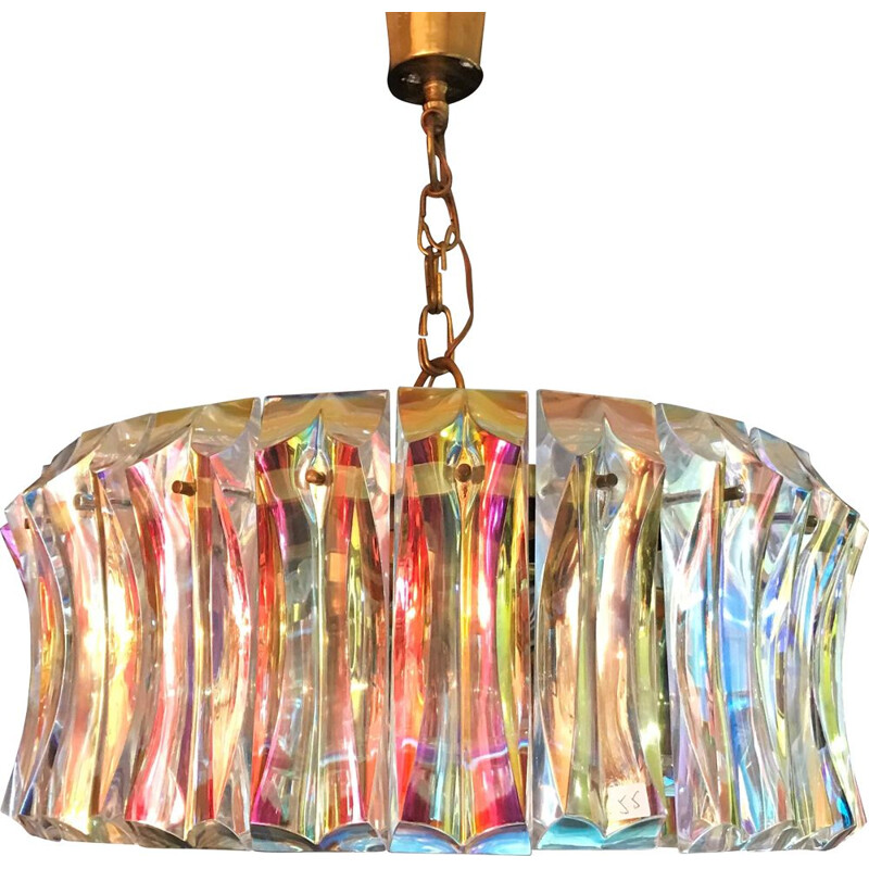 Vintage chandelier for Venini in Murano glass 1960