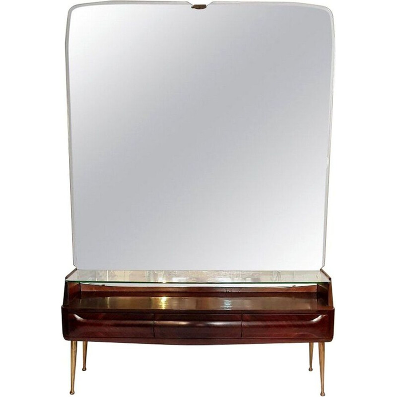 Vintage console mirror table by Vittorio Dassi