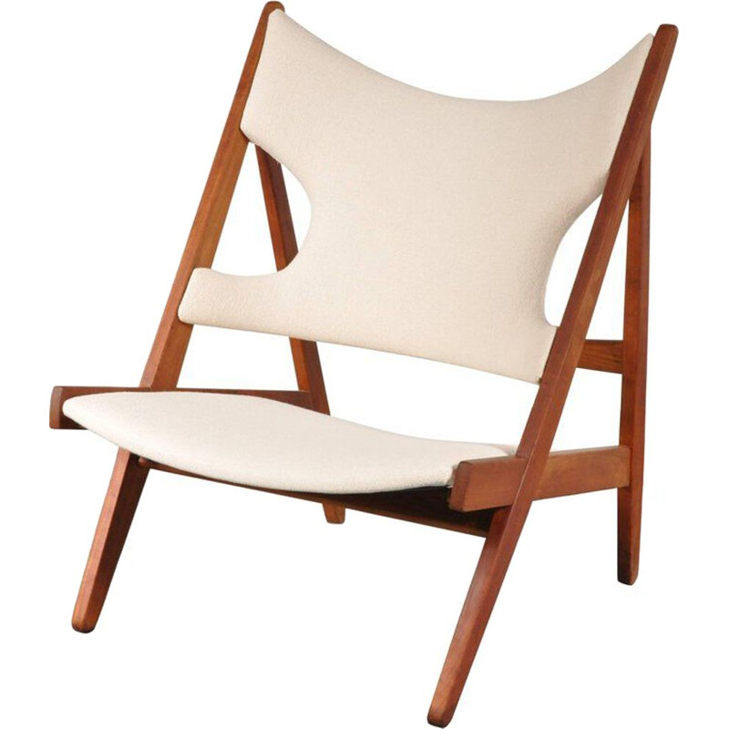 Vintage Knitting chair Ib Kofod Larsen by Christensen & Larsen