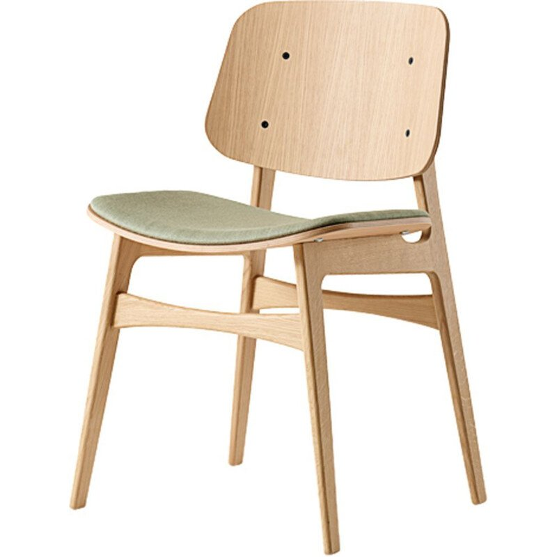 """Soborg wood base 3051"" chair, Borge Mogensen for FREDERICIA"