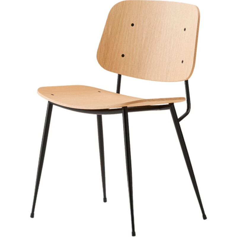 """Soborg steel base 3060"" chair, Borge Mogensen for FREDERICIA"